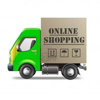 Online shopping delivery truck